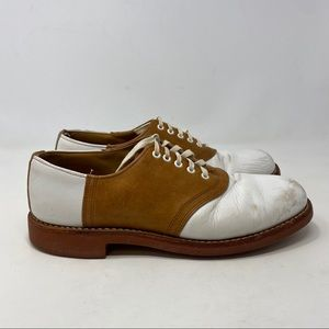 J.Crew Men's Brown & White Lace Up Shoes Size 10